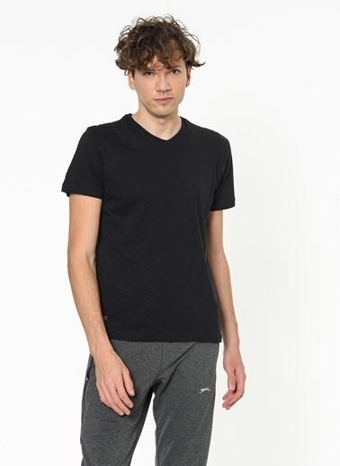 Slazenger Slazenger CARLO Erkek T-Shirt  Siyah